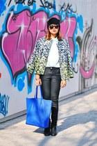 green ombre H&M jacket - black ambush Topshop boots - black waxed Zara jeans