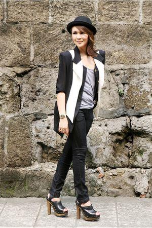 Love Vintage Manila blazer - black Oxygen jeans - gray Oxygen top