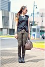 Black-baxter-courtesy-of-gold-dot-boots-dark-khaki-leopard-print-jeans