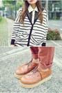 Black-wide-brimmed-fedora-hat-burnt-orange-prada-inspired-brogues-shoes