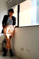 black Love Vintage Manila blazer - black Forever 21 boots - from a bazaar skirt