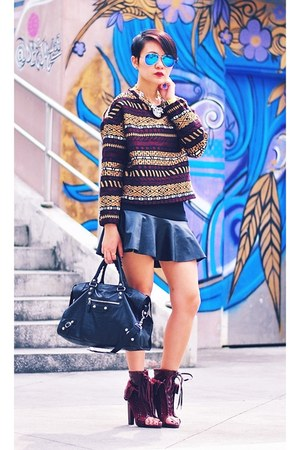 crimson ethnic print sweater - crimson Alexander Wang shoes