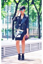 black faux leather jacket - black Alexander Wang shoes