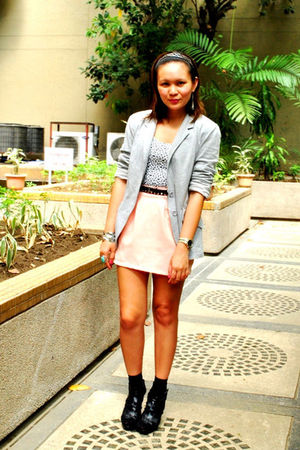 peach duchess clothing skirt - black Zara shoes - gray Details blazer