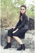 black ambush Topshop boots - black ornithopter Paradigm Shift dress