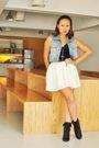 White-mimi-skirt-black-soule-phenomenon-black-forever-21-boots-ukay-queen-
