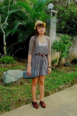 brown - - brown Topshop - gray Topshop - gray Details blazer - blue Zara shorts