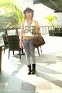 Beige-swank-clothing-gray-dark-white-jeans-black-boots-black-zara