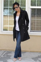 trench coat Armani Exchange coat - chip n pepper jeans - aviator Aldo sunglasses