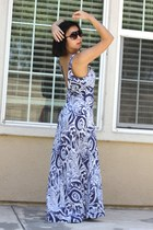 blue swim maxi Victorias Secret dress - Aldo sunglasses