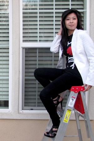 H&M blazer - new york t-shirt - DSW shoes