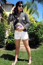 Club Monaco jacket - H&M shorts - Pac Sun swimwear - grendha jelly shoes