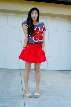 Forever 21 skirt - Forever 21 shirt - Cathy Jean shoes