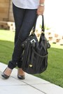 Black-jessica-simpson-pumps-polka-dot-club-monaco-shirt