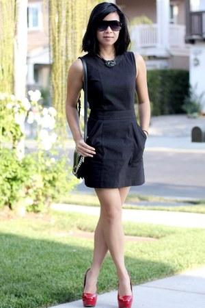 Theory dress - Zara purse - Aldo sunglasses - Steve Madden heels