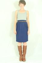 Target top - Urban Outfitters belt - deborah jean vintage skirt - Frye boots
