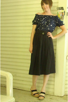 Mossimo top - back 2 basics skirt - merona shoes