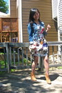 White-floral-forever-21-dress-tawny-suede-forever-21-boots