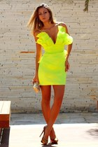lime green organza Msdressy dress