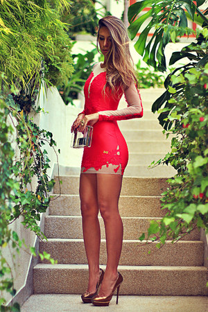 red Maria Gueixa dress