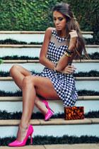 black Maria Gueixa dress - hot pink Shutz heels