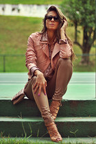 light pink Chiclet Store jacket - peach Chiclet Store pants