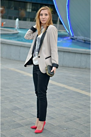 Dorothy Perkins blazer - Zara shoes - H&amp;M pants - Local store blouse