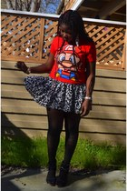 red mario shirt Walmart shirt - black romwe tights