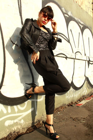 black Express jacket - black Riki top - black American Apparel intimate - black