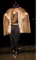 brown my great-grandmothers coat - black Forever 21 pants - beige rodarte x targ
