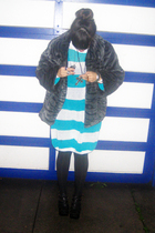 blue No label sweater - black gift from grandpa coat - black Jeffrey Campbell sh