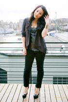 J Brand jeans - asos blazer - Forever 21 top - Yves Saint Laurent heels