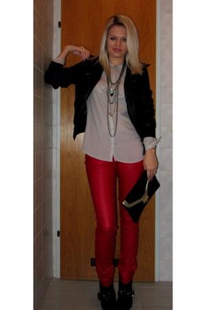 Orsay jacket - Deichmann shoes - asos bag - H&M blouse - New Yorker pants