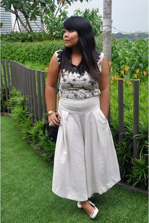 beige Flaire - eggshell chiang mai blouse - white Charles & Keith shoes - black