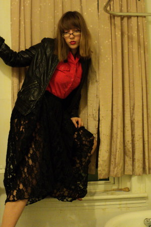 Esprit jacket - vintage shirt - vintage skirt