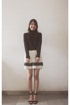 new look jumper - Forever 21 skirt - Zara sandals