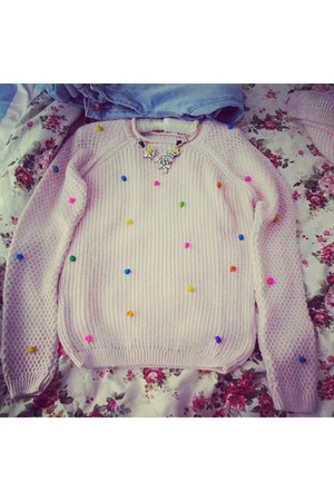 bubble gum dt sweater DT sweater