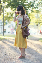 alainn bella top - American Eagle top - Handbag Heaven bag - modcloth skirt