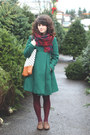 Brown-modcloth-shoes-brown-modcloth-dress-dark-green-thrifted-coat
