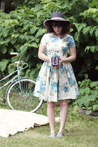 modcloth dress - modcloth hat - seychelles heels