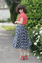 modcloth skirt - modcloth heels - Forever 21 top