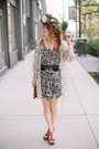 Thrifted-dress-bc-footwear-wedges-ruche-top-morrow-studios-hair-accessory