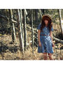 Blue-tiger-cult-vintage-dress-blue-keds-shoes-brown-forever-21-belt-beige-