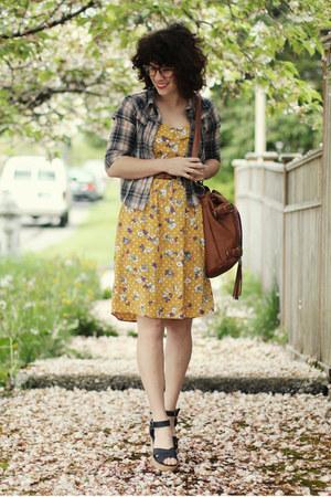 modcloth dress - free people top - Blowfish sandals