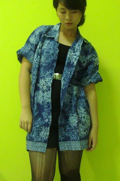 batik keris shirt - Zara belt - Zara shorts - unbranded top