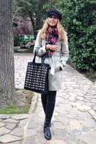 Zara boots - Zara coat - suiteblanco leggings - gamarra scarf - Stradivarius bag