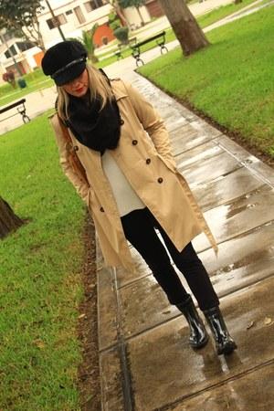 Zara boots - Basement jacket - Zara cardigan