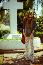 Urban Outfitters pants - Forever21 accessories - Zara top