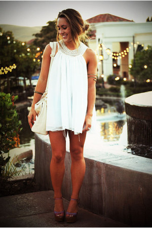 lovely people heels - Forever21 dress - Urban Outfitters accessories