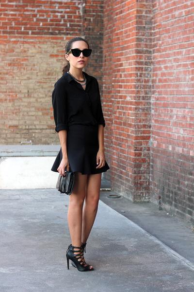 black swarovski accessories - black Forever 21 shirt